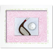 <strong>Doodlefish</strong> Sports Golf Framed Giclee Wall Art