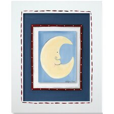 Moon and Star Moon Framed Giclee Wall Art