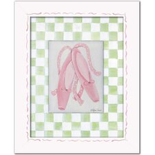 Ballerina Ballet Slippers Giclee Framed Art