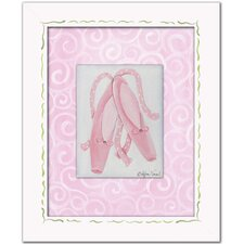 Ballerina Ballet Slippers Framed Art