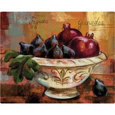 "12"" x 15"" Figs and Pomegranates Design Cutting Board"