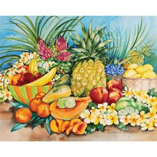 "12"" x 15"" Tropical Fruit Design Cutting Board"