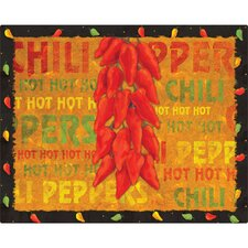 "<strong>Magic Slice</strong> 12"" x 15"" Chili Peppers Design Cutting Board"