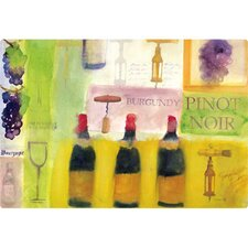 "9.5"" x 12.5"" Wine Design Cutting Board"