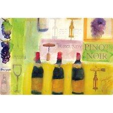 """9.5"""" x 12.5"""" Wine Design Cutting Board"""