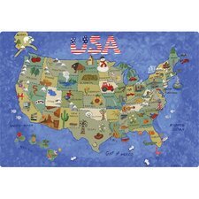 "9.5"" x 12.5"" USA Map Design Cutting Board"