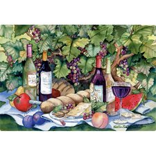 "9.5"" x 12.5"" Vineyard Picnic Design Cutting Board"