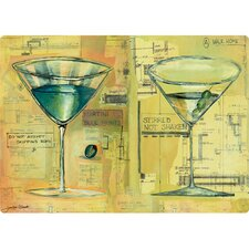"5"" x 7"" Double Martini Design Cutting Board"