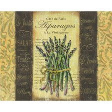 "<strong>Magic Slice</strong> 12"" x 15"" French Asparagus Design Cutting Board"