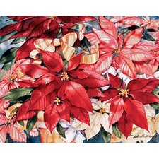 "12"" x 15"" Poinsettia Design Cutting Board"
