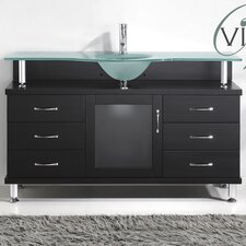 "Vincente 55"" Single Bathroom Vanity Set"