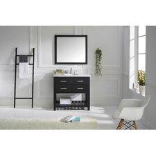 "Caroline Estate 37"" Single Bathroom Vanity Set with Mirror"