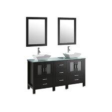 """Bradford 60"""" Double Bathroom Vanity Set"""