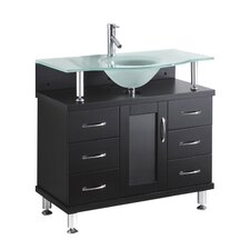 "Vincente 36"" Bathroom Vanity Set with Single Sink"