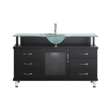 "Vincente 55"" Bathroom Vanity Set with Single Sink"