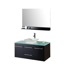 "Ultra Modern 47"" Single Bathroom Vanity Set with Mirror"
