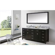 "Caroline Parkway 73"" Bathroom Vanity Set with Double Sink"