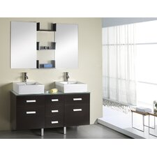 "Maybell 56.3"" Double Bathroom Vanity Set"