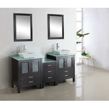 "Brentford 71.9"" Double Bathroom Vanity Set"
