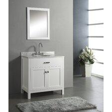 "Caroline 35.8"" Single Sink Bathroom Vanity Set"