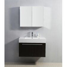 "<strong>Virtu</strong> Midori 35.2"" Single Bathroom Vanity Set"