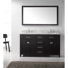 "Caroline 60"" Double Sink Bathroom Vanity Set"