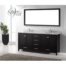"Caroline Avenue 73"" Double Bathroom Vanity Set with Mirror"