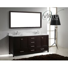 "Caroline Avenue 72.8"" Double Sink Bathroom Vanity Set"