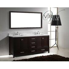 "Caroline Avenue 72.8"" Double Sink Bathroom Vanity Set"