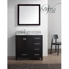 "Caroline Avenue 37"" Single Bathroom Vanity Set with Mirror"