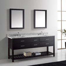 "Caroline Estate 72"" Double Bathroom Vanity Set"