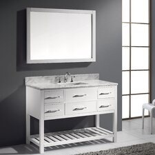 "Caroline Estate 48"" Single Bathroom Vanity Set with Round Sink"