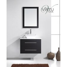 "Ultra Modern 29.5"" Marsala Single Bathroom Vanity Set"