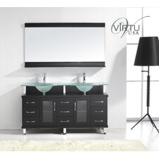 "Rocco 61"" Double Sink Bathroom Vanity Set"