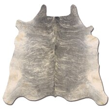 Natural Cowhide Full Skin Light Brindle Area Rug