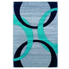 Corfu Grey/Turquoise Kids Rug