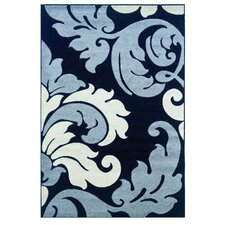 Corfu Floral Black/Grey Kids Rug