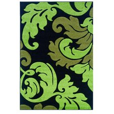 <strong>Linon Rugs</strong> Corfu Black/Lime Kids Rug