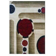 Milan Brown/Garnet Rug