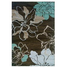 Milan Brown/Sand Floral Area Rug I