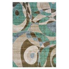 Milan Brown/Turquoise Rug