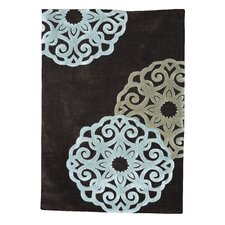 Trio Chocolate/Ice Blue Rug