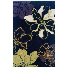 Trio Space Dyed Black/Gold Rug