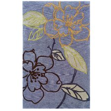 Trio Space Dyed Thistle/Blue Rug
