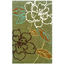 Trio Space Dyed Green/Brown Rug
