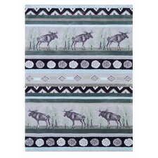 Wilderness Beige/Green Novelty Rug