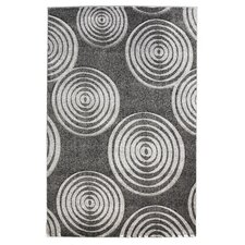 Milan Gray Circle Area Rug