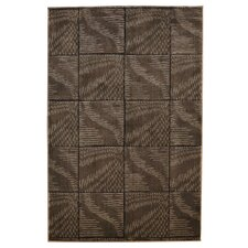 Milan Checker Brown Rug
