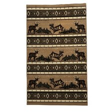 <strong>Linon Rugs</strong> Lodge 04 Wildlife Novelty Rug