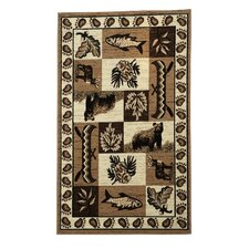 Lodge 08 Wildlife Novelty Rug